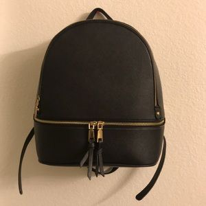 F21 Faux Leather Backpack